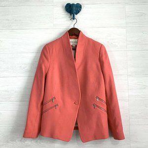 Reiss Wool Blend Arya Flamingo Pink Blazer